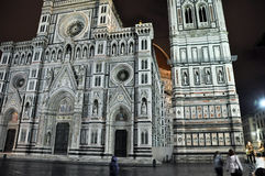 FLORENCE-NOVEMBER 10: The Duomo and Baptistery of St. John from Piazza del Duomo on November 10,2010 in Florence, Italy. Royalty Free Stock Photography