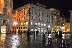 FLORENCE-NOVEMBER 10:Piazza della Repubblica at night on November 10,2010 in Florence, Italy. Royalty Free Stock Photos