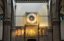 FLORENCE-NOVEMBER 10: Zegar w Duomo Paolo Uccello na Listopadzie 10,2010 w Florencja, Włochy. Obraz Royalty Free