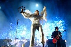 Florence och maskinen (popmusikband) i konsert på FIB festivalen Arkivfoto