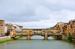 Florence old bridge , Italy  Royalty Free Stock Photography