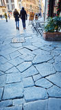 Florence old paving. Stock Photo