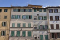 Florence old residential building facade Royalty Free Stock Photography
