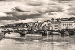 Florence old style. A corner of the beautiful city of Florence (Italy) in a charming old-fashioned image Royalty Free Stock Photos