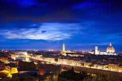Florence på skymning Royaltyfri Bild