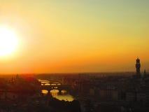 Florence på solnedgången Royaltyfri Fotografi
