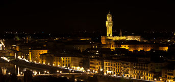 Florence, Palazzo della Signoria Night view Royalty Free Stock Photo