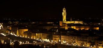 Florence, Palazzo della Signoria Night view royalty free stock photo