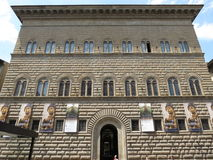 Florence, Palazzo Strozzi (XV Century). Now a popular venue for temporary art exhibitions Royalty Free Stock Image