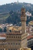 Florence, Palazzo Vecchio. Palazzo Vecchio on Piazza della Signoria in Florence Tuscany Stock Photo