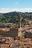 Florence and the Palazzo Vecchio. View of the  city of Florence and the Palazzo Vecchio Royalty Free Stock Image