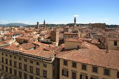 Florence and the Palazzo Vecchio Royalty Free Stock Images