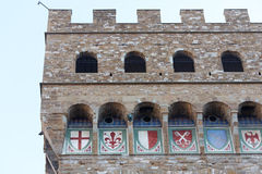 Florence Palazzo Vecchio Close Up Royalty Free Stock Photography
