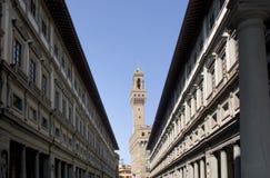 Florence - Palazzo Vecchio et rampe d'Uffizi photo libre de droits
