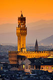 Florence Palazzo Vecchio evening Stock Image