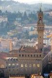 Florence, Palazzo Vecchio, piazza della Signoria. Stock Foto's