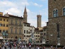 Florence, Palazzo Vecchio square Stock Photos
