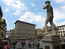 Florence, Palazzo Vecchio square Royalty Free Stock Photography