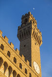 Florence,Palazzo Vecchio, tower of Arnolfo di Cambio. Royalty Free Stock Images