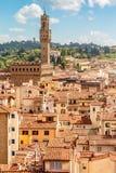 Florence with Palazzo Vecchio (Tuscany, Italy) Royalty Free Stock Image