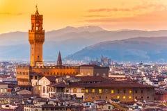Florence palazzo vecchio, Tuscany. Stock Images