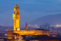 Florence. Palazzo Vecchio. Royalty Free Stock Photography