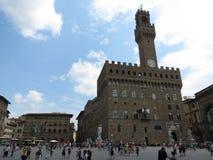 Florence, Palazzo Vecchio (XIII- XVI Century) Stock Photos