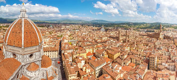 Florence panoram from Cathedral Santa Maria del Fiore, Italy Royalty Free Stock Photography