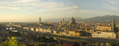 Florence Panorama. View across the sites of florence royalty free stock photo