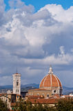 Florence, panorama with the Cathedral Royalty Free Stock Images