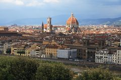 Florence panorama with Duomo Stock Images