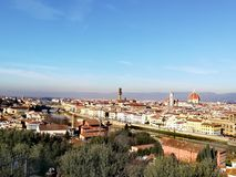 florence panorama italy royaltyfria bilder
