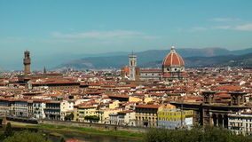 Florence panorama stock video footage