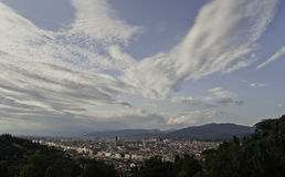 Florence panorama with light clouds on the sky Stock Image
