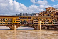 Florence, panorama with Old Bridge Royalty Free Stock Photography