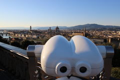 Florence panorama from piazzale Michelangelo, Italy Stock Image