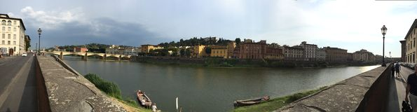 florence panorama- sikt Royaltyfri Bild