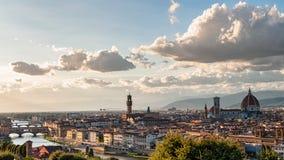 florence panorama- sikt royaltyfri fotografi