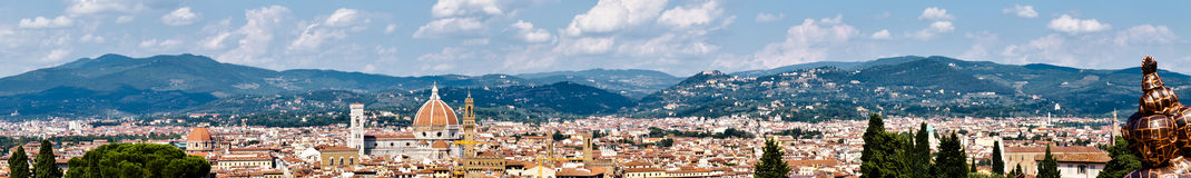 Florence panorama. Taken from the Forte di San Giorgio Stock Photo