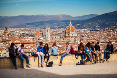 Florence Panorama in Tuscany, Italy Royalty Free Stock Image