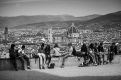Florence Panorama in Tuscany, Italy Stock Photo