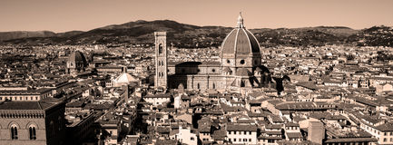 Florence Panorama in Tuscany, Italy. View on Duomo in Florence, Tuscany, Italy Stock Image