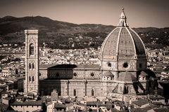 Florence Panorama in Tuscany, Italy Stock Images