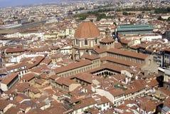 Florence, panorama van de stad van Florence, Toscanië, Italië stock fotografie