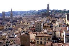 Florence, panorama van de stad van Florence, Toscanië, Italië stock afbeeldingen