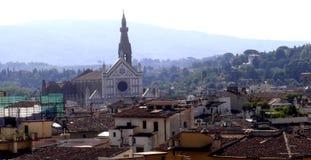 Florence, panorama van de stad van Florence, Toscanië, Italië stock foto's
