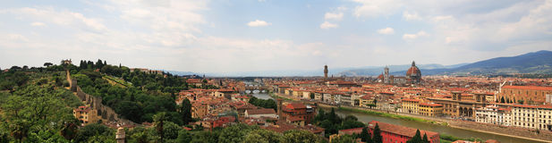 florence panorama xl Royaltyfri Bild