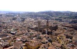 Florence panoramautsikt av staden av florence, tuscany, Italien royaltyfri fotografi