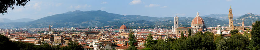 Florence panoramic. Panoramic view of city of Florence, Tuscany, Italy Royalty Free Stock Photo