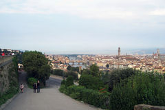 Florence panoramic city view. Stock Photos